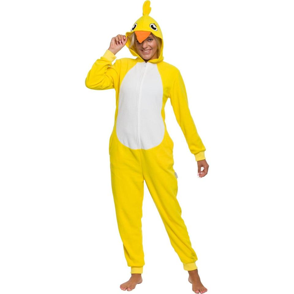 """<p>If you don't want to go sexy and not really feeling the scary vibe, you can never go wrong with humor. The <span>Funziez! Chick Adult Women's Novelty Union Suit</span> ($30) is a must for <a class=""""link rapid-noclick-resp"""" href=""""https://www.popsugar.co.uk/Halloween"""" rel=""""nofollow noopener"""" target=""""_blank"""" data-ylk=""""slk:Halloween"""">Halloween</a>, especially if you want to be comfortable.</p>"""