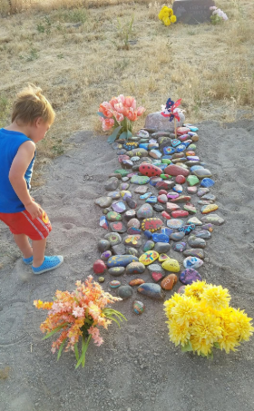 Max Carver's grave on his family's ranch.