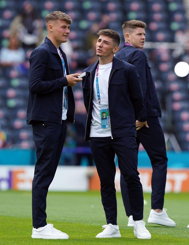 Scotland's Nathan Patterson (left) with Billy Gilmour were left on the bench at Hampden