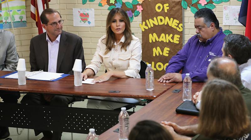 Melania Trump Visits Texas Shelter For Undocumented Children