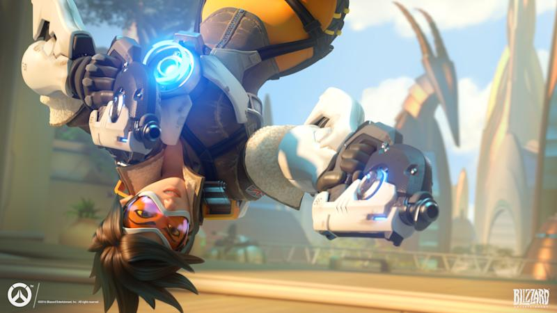 The character Tracer from Activision Blizzard's Overwatch.