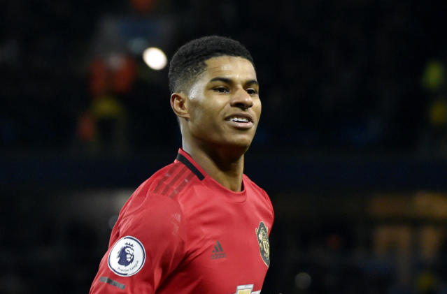 Marcus Rashford urged the government to provide free meals for needy students over the summer holidays. (AP)