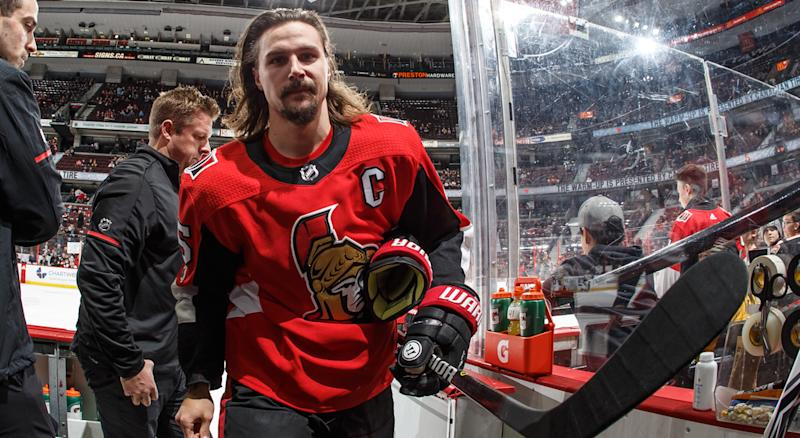 Erik Karlsson seems shook after trade to Sharks