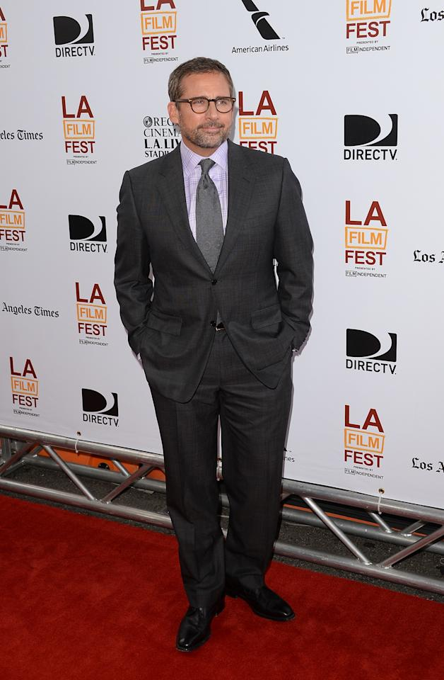 """LOS ANGELES, CA - JUNE 23: Actor Steve Carell attends the 2013 Los Angeles Film Festival premiere of the Fox Searchlight Pictures' """"The Way, Way Back"""" held on June 23, 2013 in Los Angeles, California. (Photo by Jason Merritt/Getty Images)"""
