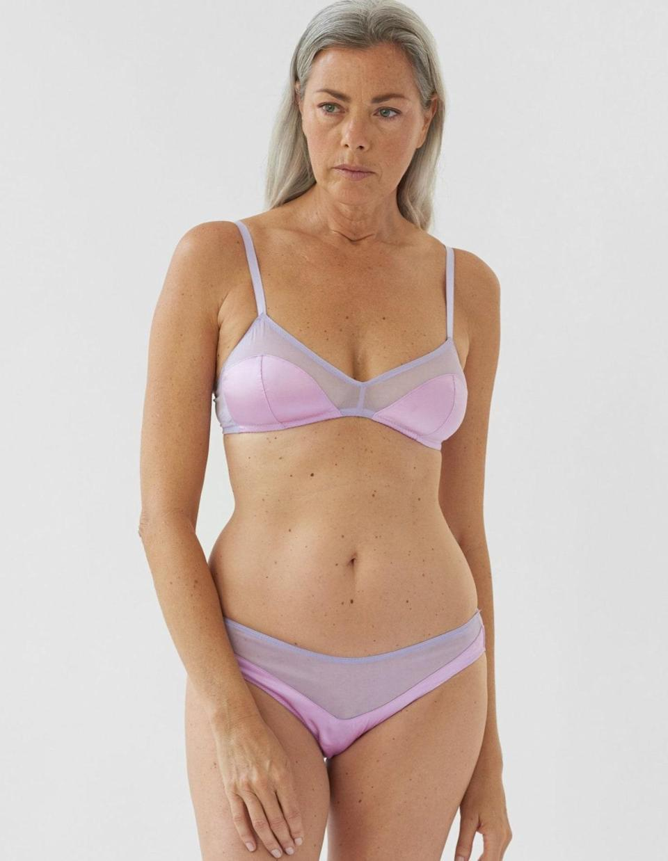 """Step into the world of Araks's dainty lingerie with one of its best-sellers. Available in nine other pretty colors, this soft-cup bra features adjustable straps, soft silk cups, and contrasting chiffon panels. It's the kind of bralette that instantly inspires confidence, whether you're lounging at home or headed out for dinner. $103, Araks. <a href=""""https://www.araks.com/products/beatrice-bralette-posey?variant=32854829793360"""" rel=""""nofollow noopener"""" target=""""_blank"""" data-ylk=""""slk:Get it now!"""" class=""""link rapid-noclick-resp"""">Get it now!</a>"""