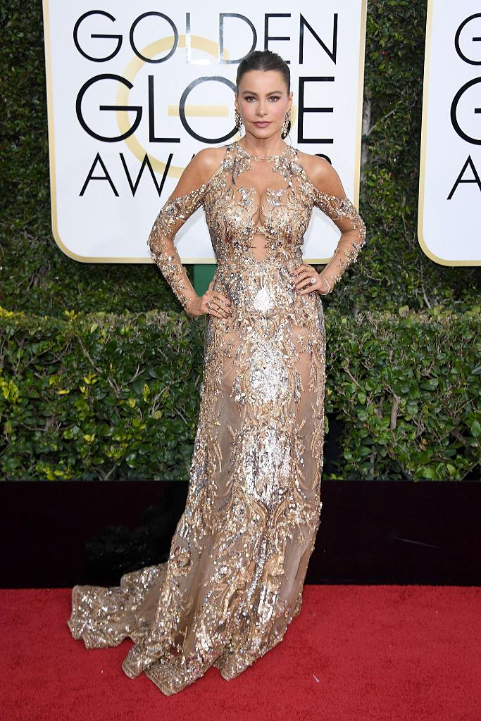 Sofia Vergara in Zuhair Murad. (Photo: Getty Images)
