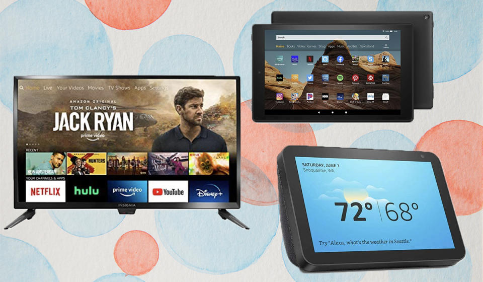 From tablets to TVs, this tucked-away Amazon section is poppin' with Echo Shows, Fire TV and Fire 10 tablet secret sales! (Photo: Amazon)