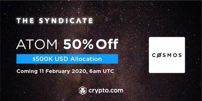 Crypto.com Exchange to list Cosmos (ATOM) with a $500,000 USD allocation at 50% off for CRO stakers