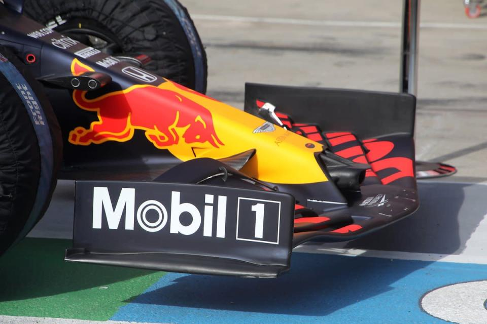 """Red Bull Racing RB16 front wing<span class=""""copyright"""">Giorgio Piola</span>"""