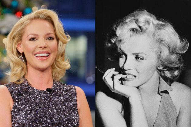 No one will ever forget Marilyn Monroe's (right) platinum waves. It looks fun and makes a girl seem so unpredictable. The only celebrity we know to date who matches Marilyn's look is Katherine Heigl (left). We wonder if she's ever going platinum.
