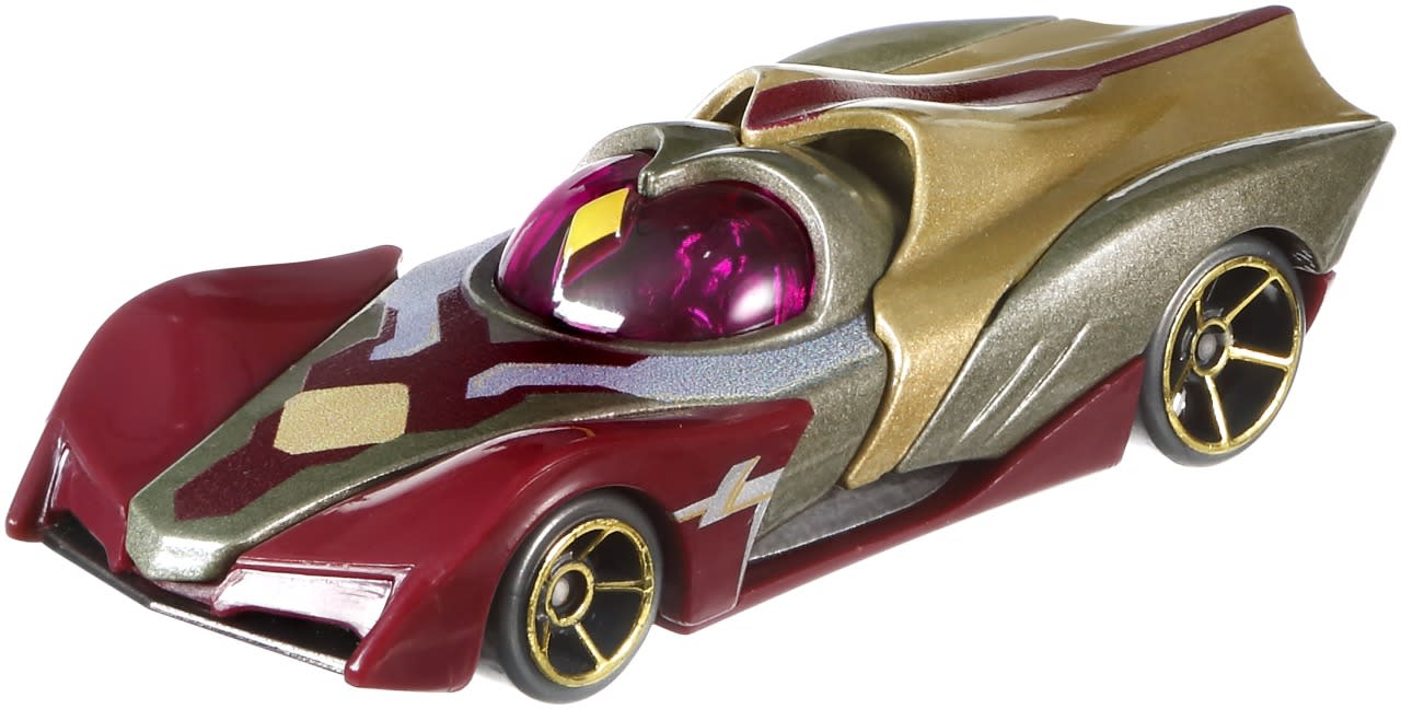 <p>In the Marvel Cinematic Universe, the sentient android possesses the Soul Stone on his forehead. This supercar features its own version on the windshield, while the hero's flowing cape is incorporated into the rear design.</p>