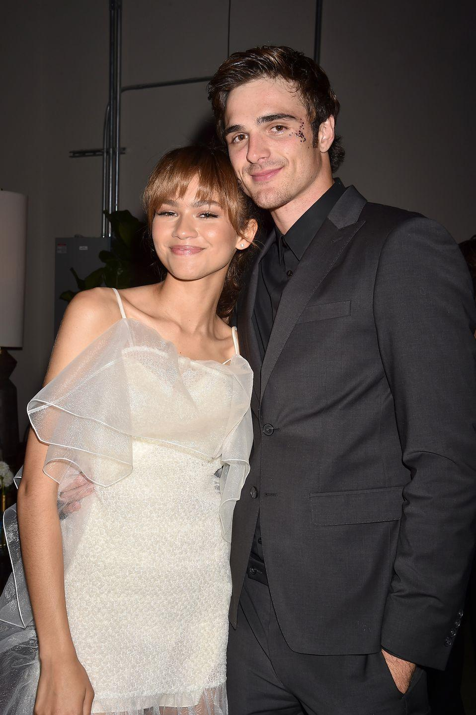 "<p><em>The Kissing Booth</em> fans were obviously thrilled when they found out costars Joey King and Jacob Elordi were a couple IRL. Fast forward to their <a href=""https://www.elle.com/culture/celebrities/a33586073/joey-king-jacob-elordi-kissing-booth-breakup-relationship-comments/"" rel=""nofollow noopener"" target=""_blank"" data-ylk=""slk:awkward breakup"" class=""link rapid-noclick-resp"">awkward breakup</a> and <a href=""https://www.elle.com/uk/life-and-culture/culture/a30761276/zendaya-jacob-elordi/"" rel=""nofollow noopener"" target=""_blank"" data-ylk=""slk:rumors that Jacob had moved on"" class=""link rapid-noclick-resp"">rumors that Jacob had moved on</a> with his <em>Euphoria</em> costar, Zendaya. Some took it a step further by <a href=""https://www.popbuzz.com/tv-film/the-kissing-booth/2-jacob-elordi-joey-king-meme-trailer/"" rel=""nofollow noopener"" target=""_blank"" data-ylk=""slk:speculating that Jacob &quot;looked miserable&quot;"" class=""link rapid-noclick-resp"">speculating that Jacob ""looked miserable""</a> in <em>The Kissing Booth 2</em> with his ex. </p>"