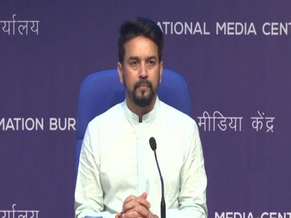 Union Minister for Information and Broadcasting Anurag Singh Thakur(Photo/ANI)