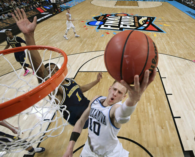 Villanova guard Donte DiVincenzo was the culprit against Michigan. The sophomore totaled a career-high 31 points on 10-of-15 shooting. (AP)