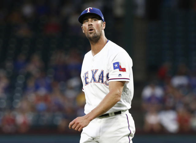 The Texas Rangers have traded starting pitcher Cole Hamels to the Chicago Cubs. (AP)