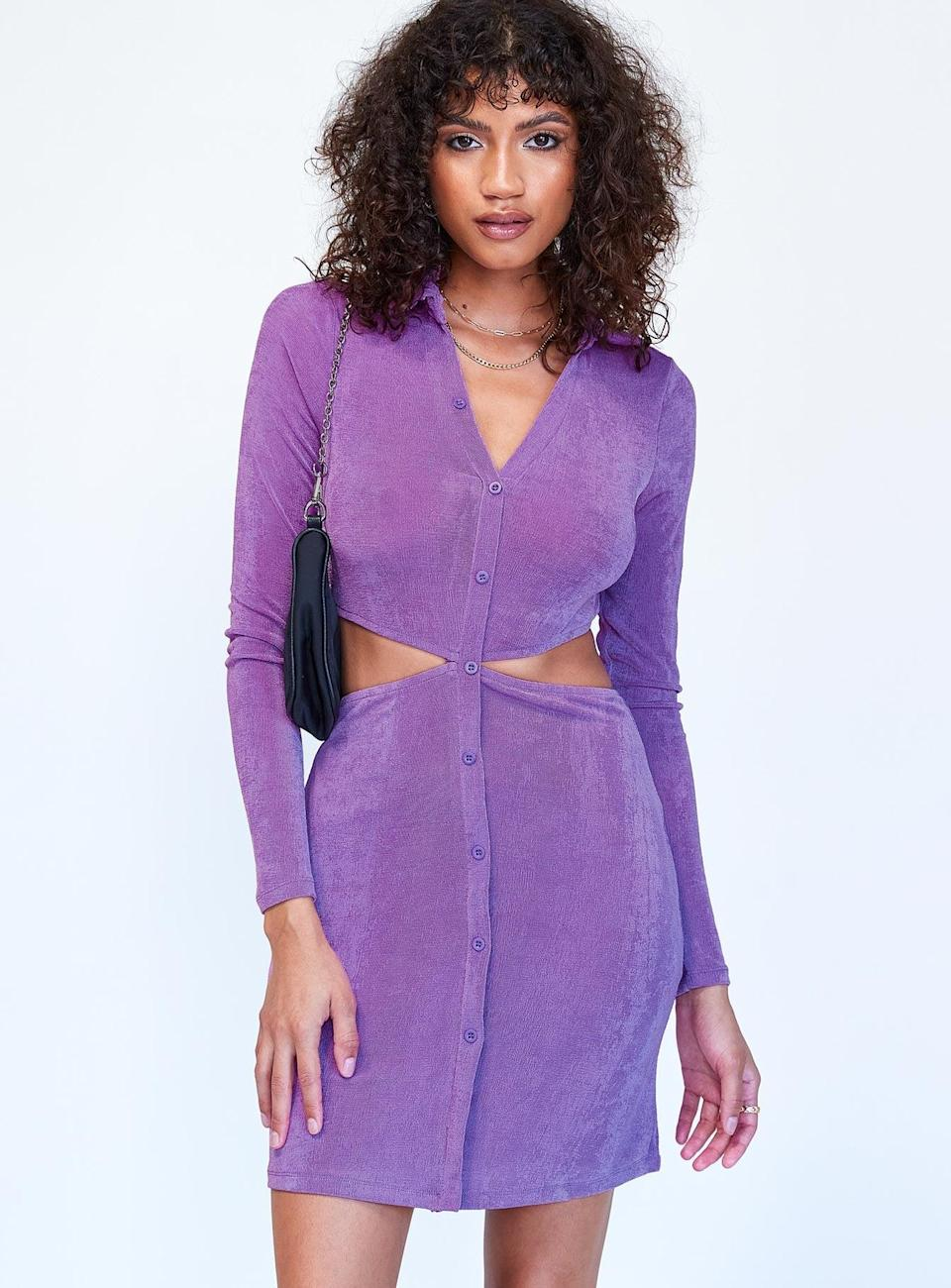 <p>The cutouts on this purple <span>Princess Polly Coco Mini Dress</span> ($55) are so fun. Plus, the fabric is comfortable; this is a great throw-on-and-go dress.</p>