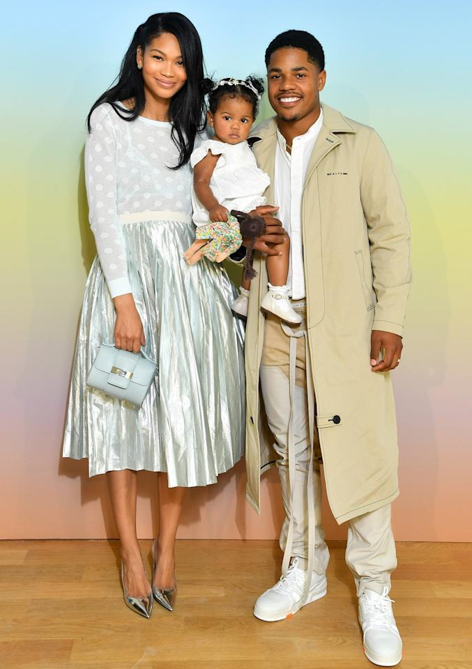 """The Victoria's Secret model got engaged to the New York Giants wide receiver in December 2017 and <a href=""""https://people.com/style/chanel-iman-marries-sterling-shepard/"""">wed just four months later</a> in March 2018.  The couple <a href=""""https://people.com/parents/chanel-iman-expecting-daughter-baby-shower/"""">welcomed their first daughter</a>, Cali, into the world in August 2018. They're currently <a href=""""https://people.com/parents/chanel-iman-pregnant-expecting-second-child-sterling-shepard/"""">expecting another child</a>, making them a family of four!"""