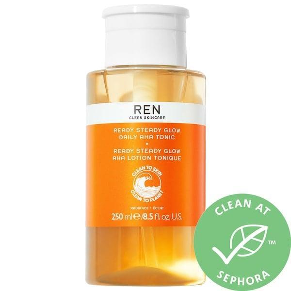 <p>The <span>Ren Clean Skincare Ready Steady Glow Daily AHA Toner</span> ($38) is a gentle yet effective toner loaded with exfoliating acids.</p>