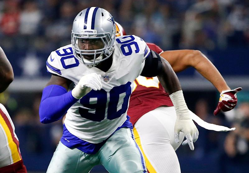 Dallas Cowboys defensive end DeMarcus Lawrence was given the franchise tag for the second straight year. (AP)