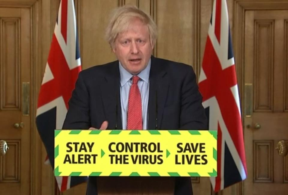 Prime Minister Boris Johnson during a media briefing in Downing Street, London, on coronavirus (COVID-19). (Photo by PA Video/PA Images via Getty Images)
