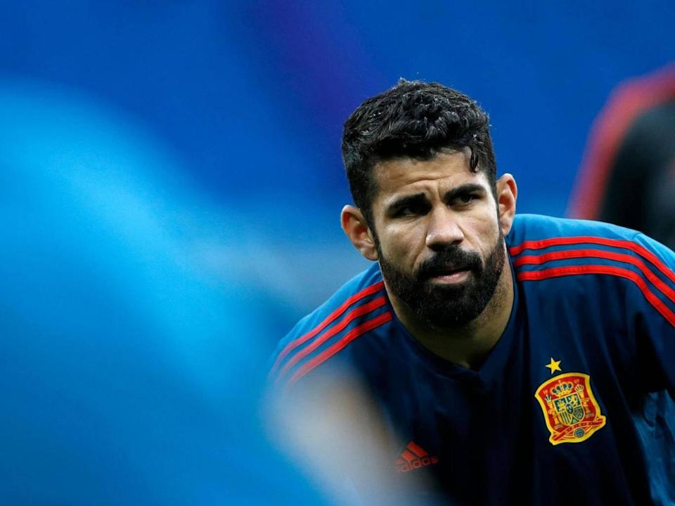 Costa is out of the game at Wembley (AFP/Getty Images)