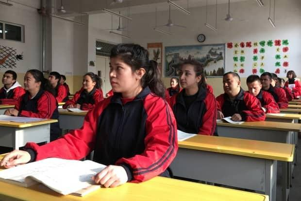 Residents at the Kashgar city vocational educational training centre attend a Chinese lesson during a government organised visit in Kashgar, Xinjiang Uighur Autonomous Region, China, January 4, 2019.