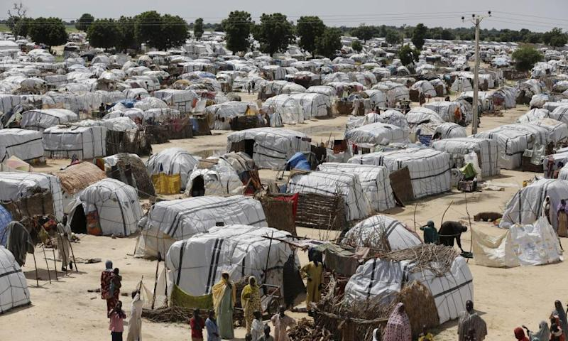 One of the biggest camps for people displaced by Islamic extremists in Maiduguri, Nigeria.