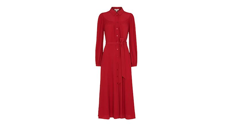 Whistles Smocked Yoke Shirt Dress