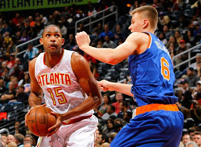Trading Al Horford would mean starting over in Atlanta. (Kevin C. Cox/Getty Images)