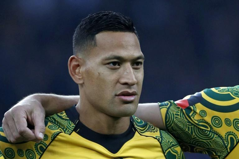 Israel Folau was sacked by Rugby Australia after again posting ant-gay views in April this year (AFP Photo/ADRIAN DENNIS)