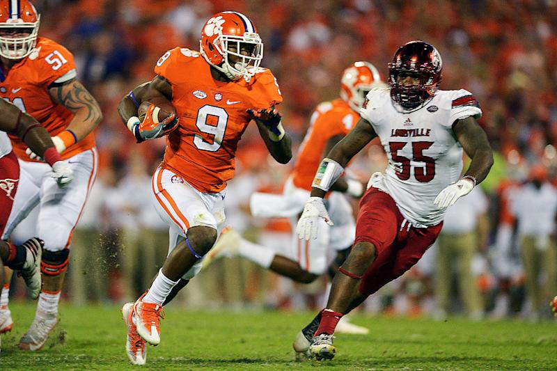 Wayne Gallman rushed for 34 touchdowns in three seasons at Clemson. (Getty  Images) db374bab3