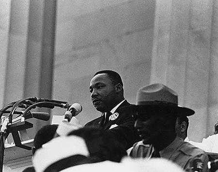 Martin Luther King, Jr. delivers his 'I have a dream' speech.  REUTERS/Files