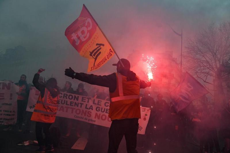 'We won't give up': French protesters defiant on day 36 of pension strikes