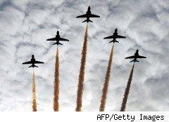 planes flying up arrow