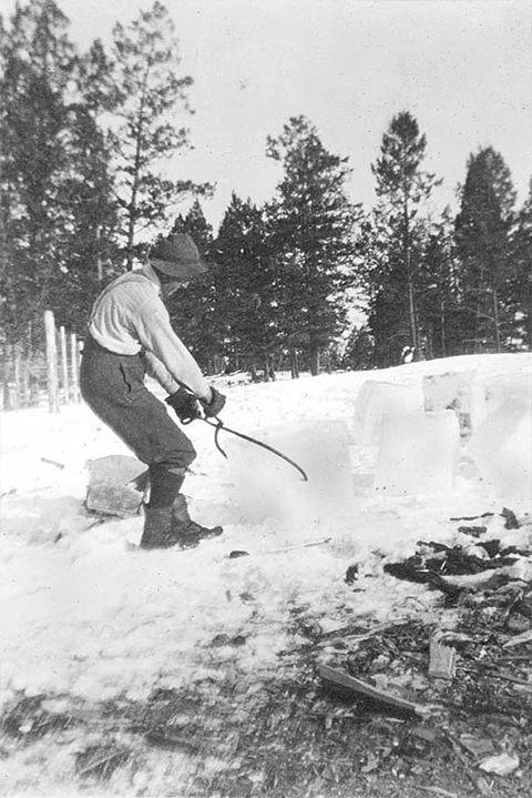 <p>In the early 1800s, ice cutting was the common task of hand-sawing individual ice blocks from lakes and rivers to help store cold food throughout the winter. Then refrigerators were invented and the heavy-lifting job chilled out. </p>