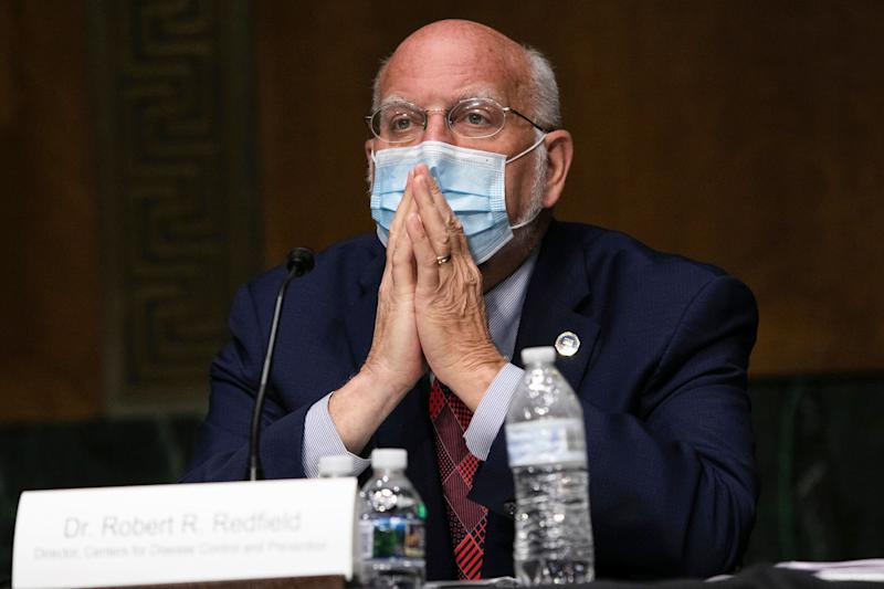 CDC Director Robert Redfield on Capitol Hill in July. (Photo: ASSOCIATED PRESS)