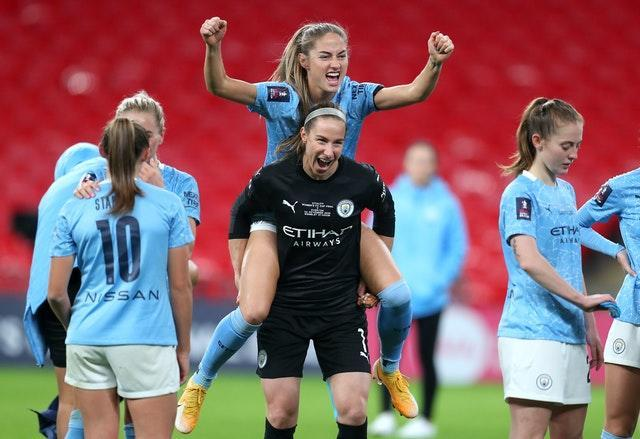 Manchester City goalkeeper Karen Bardsley recently celebrated an FA Cup win
