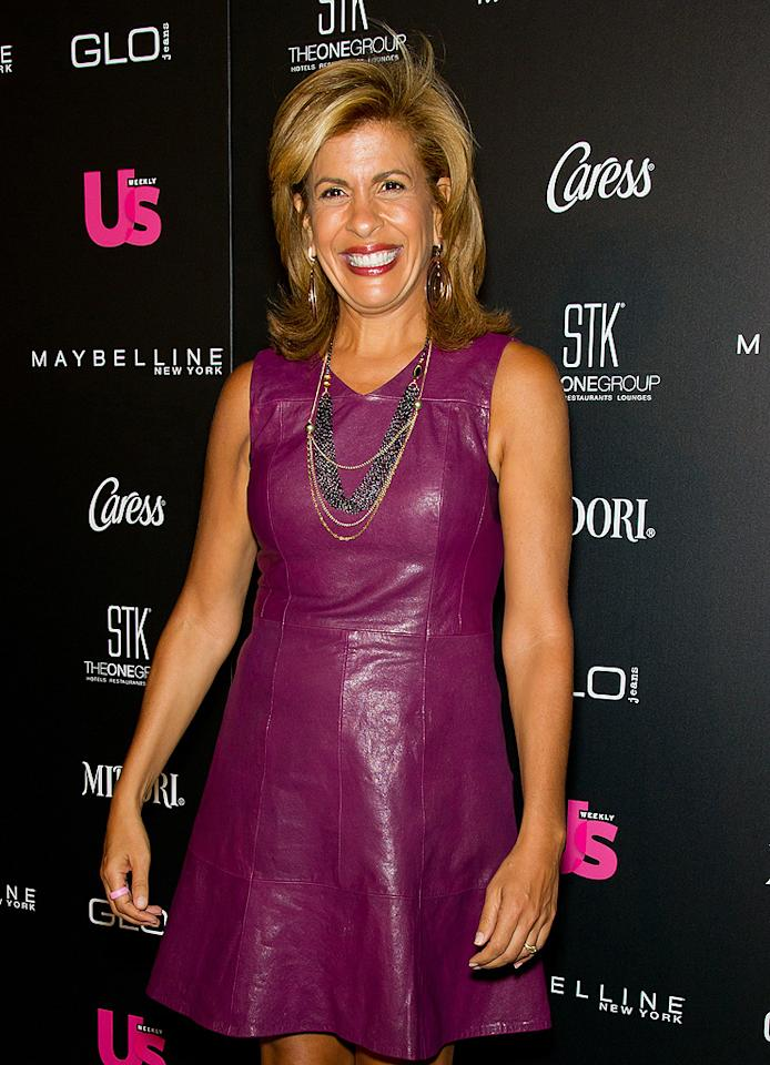 """Today"" co-host Hoda Kotb told the story of her 2006 struggle with breast cancer on her morning talk show by airing video footage of her mastectomy and reconstructive surgery, albeit after she had been declared cancer-free. In 2010, she released a memoir titled <em>Hoda: How I Survived War Zones, Bad Hair, Cancer, and Kathie Lee</em>. (9/12/2012)"