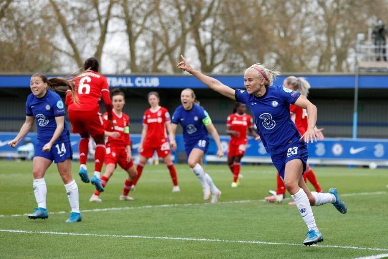 Pernille Harder (R) will return to the Champions League final with Chelsea, having captained Wolfsburg in their 3-1 loss to Lyon last season