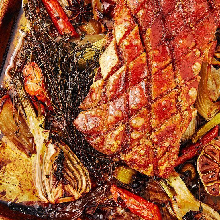"""<p>For many, roast pork belly can be pretty intimidating. But I'm here to tell you that it's actually not, and you'll be grateful for giving it a go, because when cooked properly a slow cooked pork joint is one of the nicest things you can eat. </p><p>Get the <a href=""""https://www.delish.com/uk/cooking/recipes/a29953013/roast-pork-belly/"""" rel=""""nofollow noopener"""" target=""""_blank"""" data-ylk=""""slk:Roast Pork Belly"""" class=""""link rapid-noclick-resp"""">Roast Pork Belly</a> recipe.</p>"""