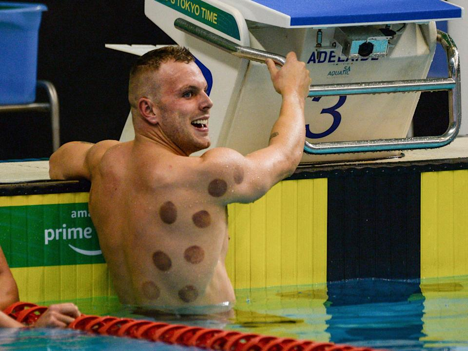 Kyle Chalmers after winning the men's 200m freestyle race (AFP via Getty Images)