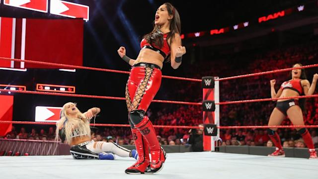 "The latest step in Brie Bella's comeback will take place Sunday at WWE's ""Hell in a Cell."" (Photo courtesy WWE)"