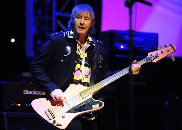 <p>Overend Watts was a founding member of and bassist for the 1970s rock band Mott the Hoople. He died Jan. 22 from throat cancer. He was 69.<br> (Photo: Brian Rasic/Getty Images) </p>