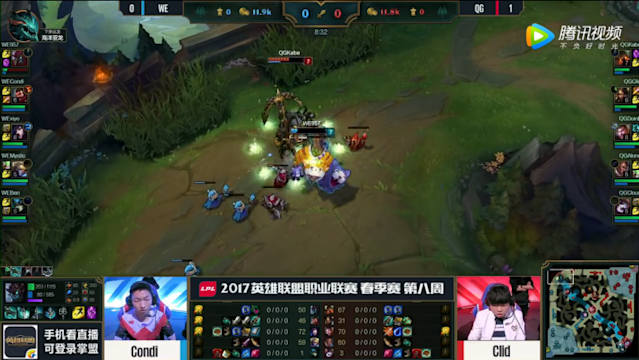 Either miscommunication or miscalculation cost WE top lane pressure in a solo kill (lolesports)