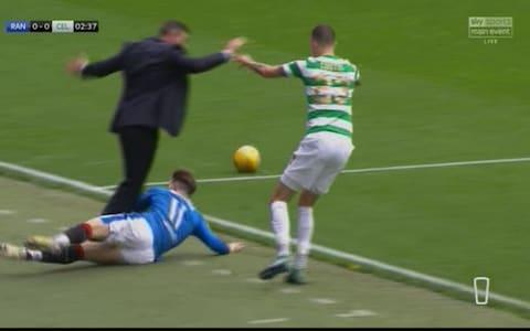 Manager tackled - Credit: Sky Sports
