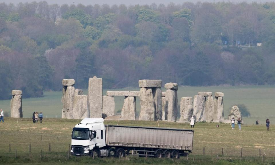 Traffic on the A303 that runs beside the ancient monument