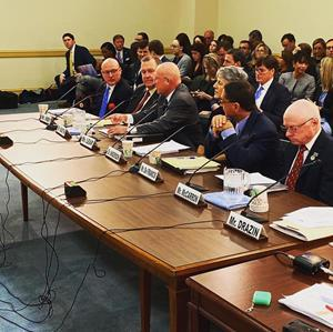 Animal Wellness Action executive director Marty Irby (far left) testifying at a January 2020 Congressional hearing on the Horseracing Integrity and Safety Act.