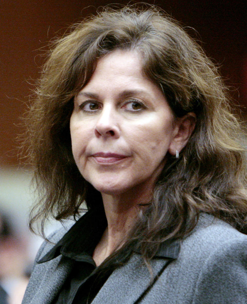 FILE - This Oct. 21, 2010 file photo shows former Bell, Calif., assistant city manager Angela Spaccia appearing in court for arraignment on corruption charges, in Los Angeles Superior Court.  Jury selection begins Tuesday, Jan. 15, in the trial of former officials of the scandal ridden city of Bell, in a massive corruption case that nearly bankrupted the working-class Los Angeles suburb. (AP Photo/Al Seib, Pool, File)