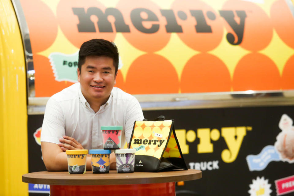 Joey Kee, co-founder of Merry Ice Cream, a homegrown ice cream business that started out in Penang, March 1, 2021 . — Picture by Choo Choy May