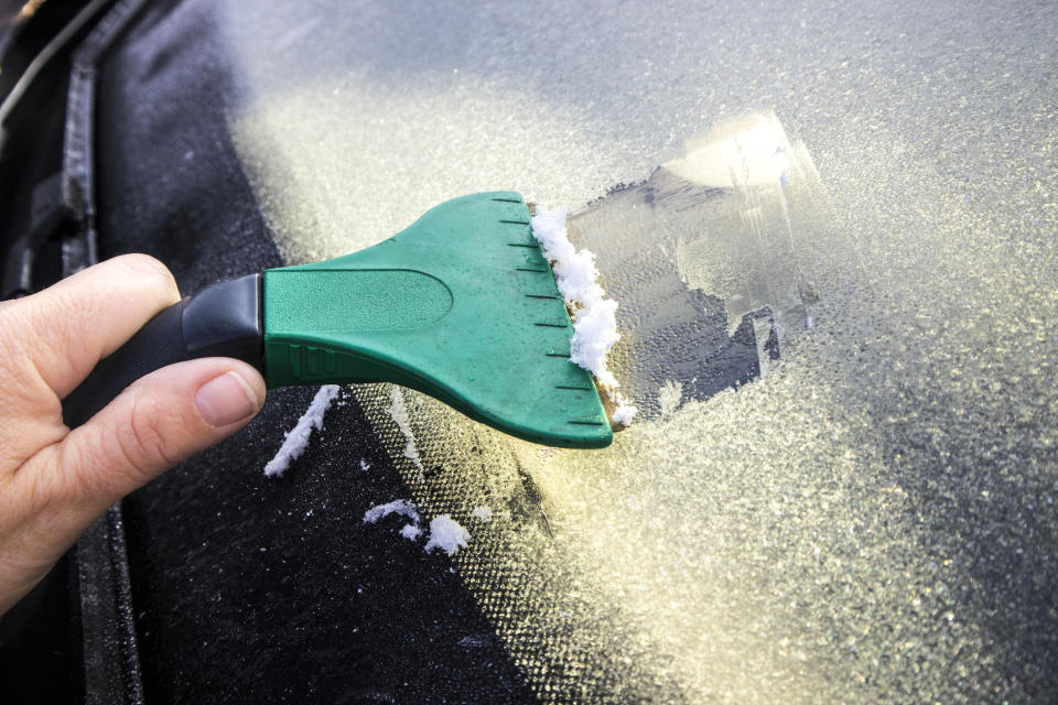 People are sharing their car de-icing hacks online [Photo: Getty]